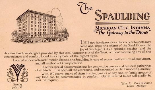 1921 Flier for Preopening Spaulding