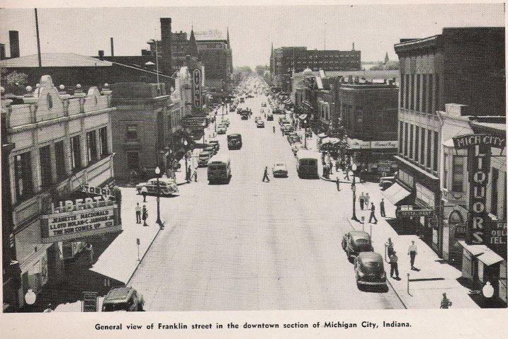 Franklin Street Michigan City Circa 1940's