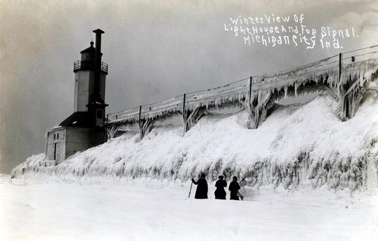 Early 1900 view light house cat walk