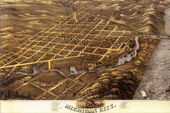 Michigan City Overview 1869