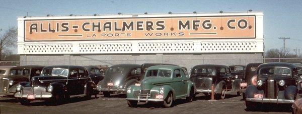 Allis Chalmers parking lot 1949