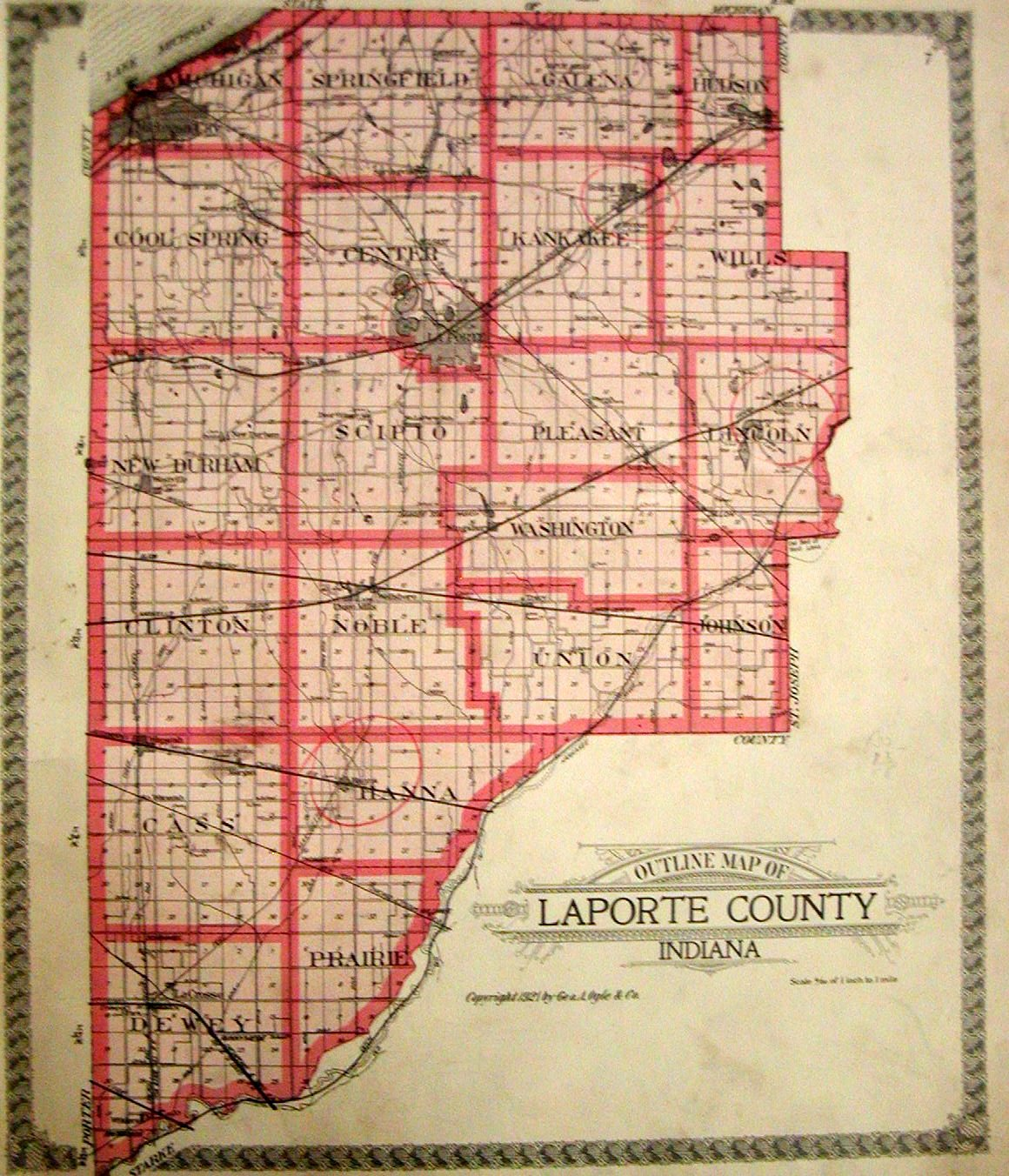 La Porte County Indiana Township Maps