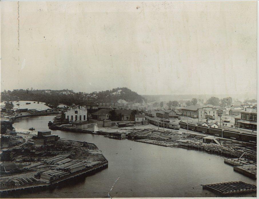 Early  Michigan City Harbor