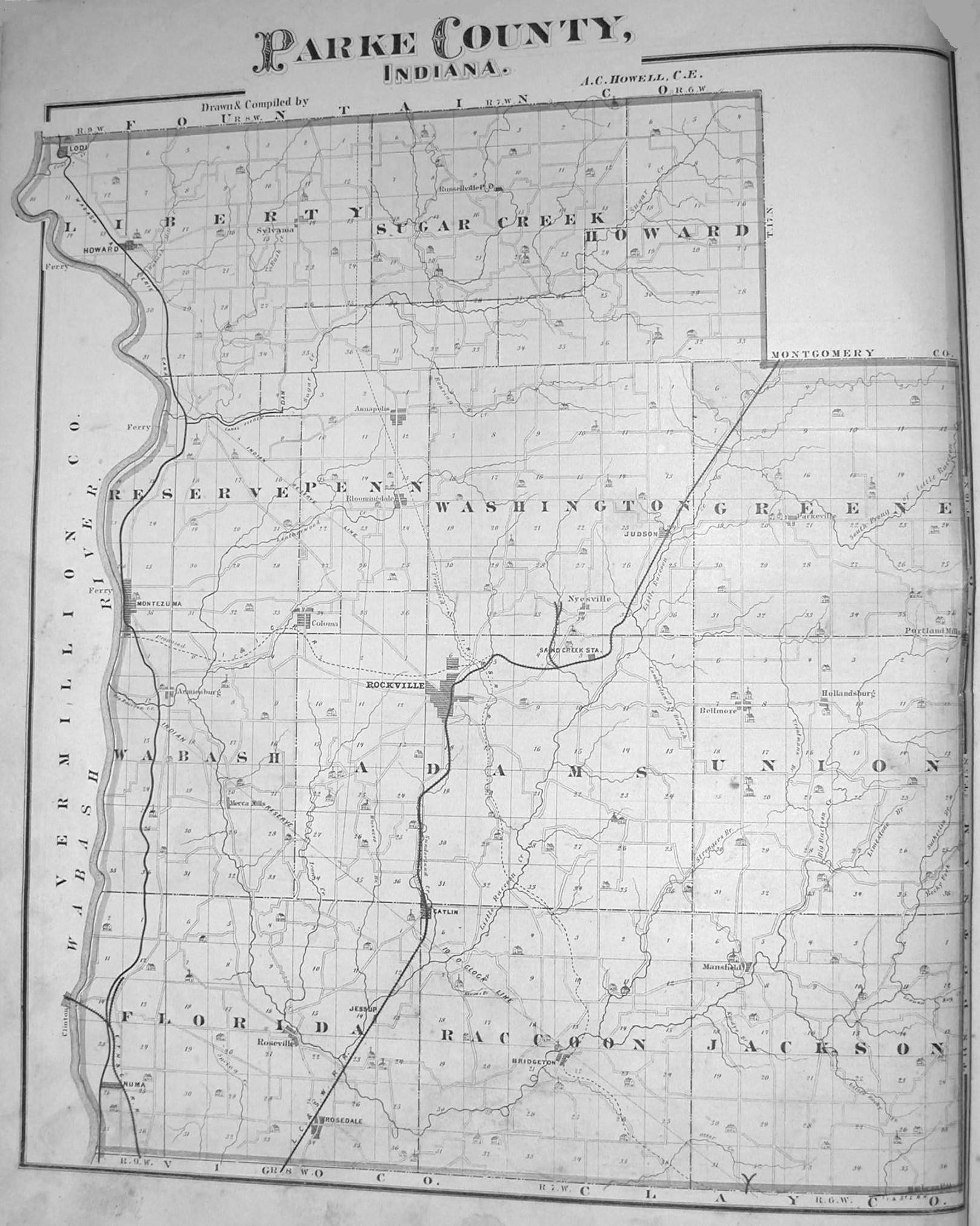 1874 Atlas Parke County Indiana
