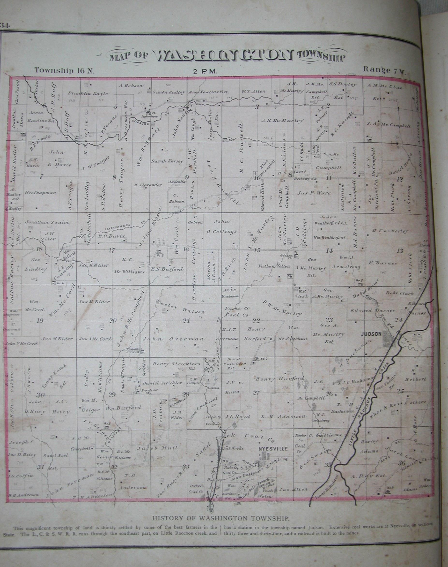 1874 Atlas Parke County Indiana