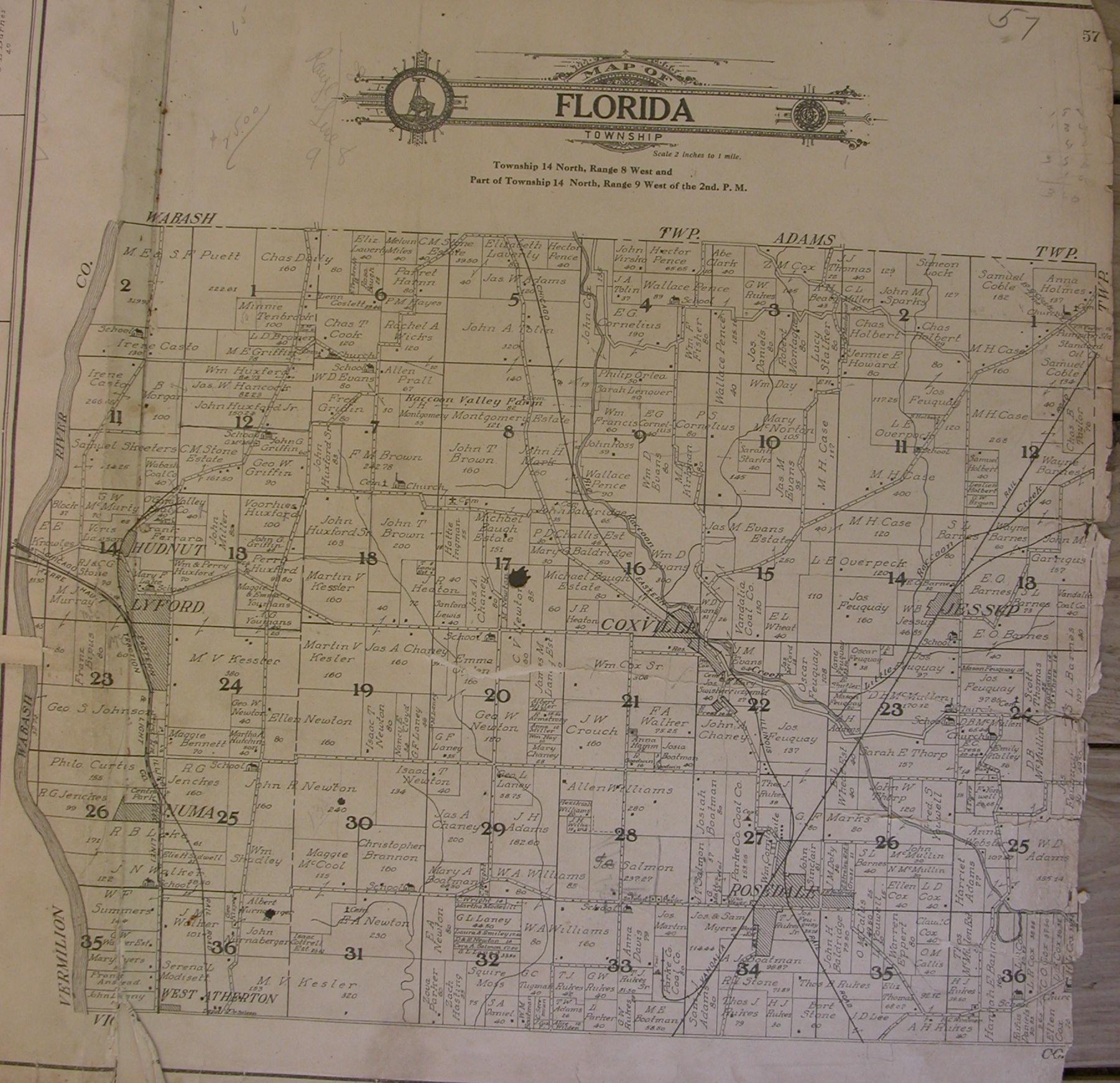 Parke County Indiana  1908 Atlas