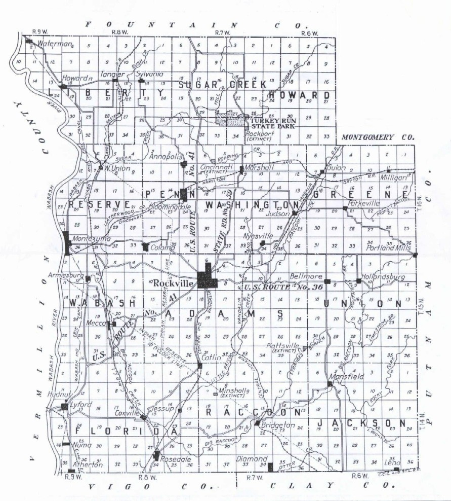 Parke County Indiana Maps